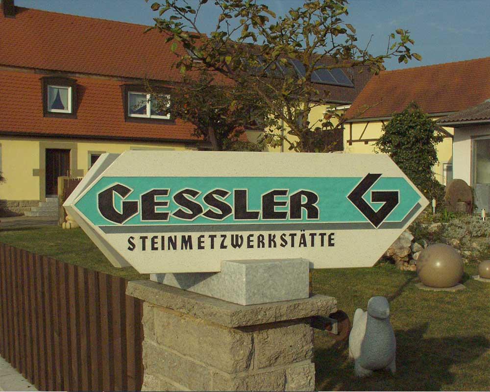 Bildhauer Gessler Schild Start