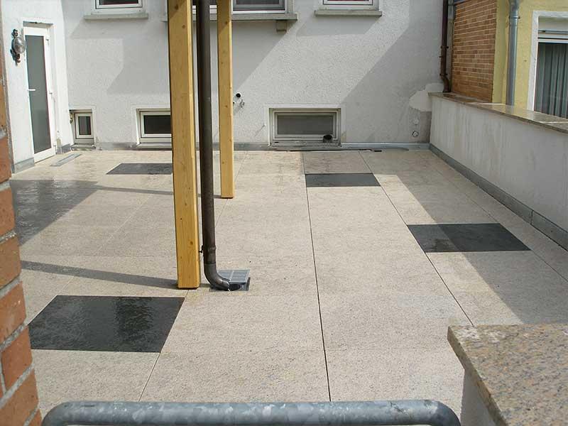 Umbau Herrieden, Umbau Bechhofen, Steinwerkstätte Gessler, Steinboden