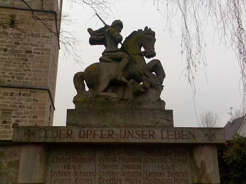 Denkmalpflege Herrieden, Denkmalpflege Bechhofen, Steinmetzwerkstätte Gessler, Denkmal Statue