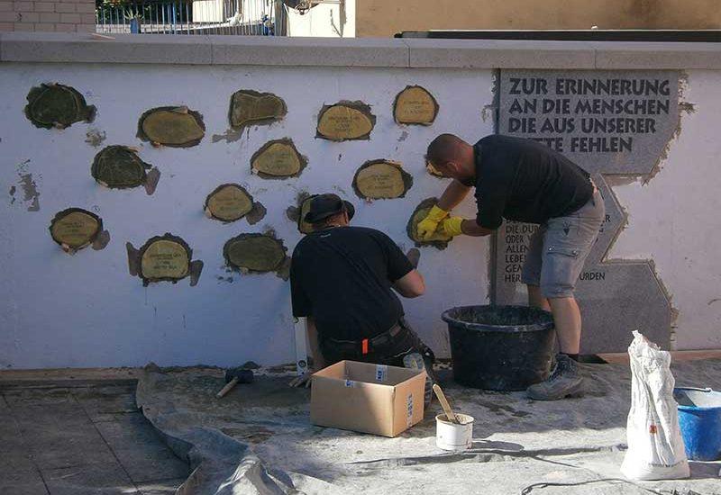 Denkmalpflege Herrieden, Denkmalpflege Bechhofen, Steinmetzwerkstätte Gessler, Arbeit An Schoadenkmal Bechhofen