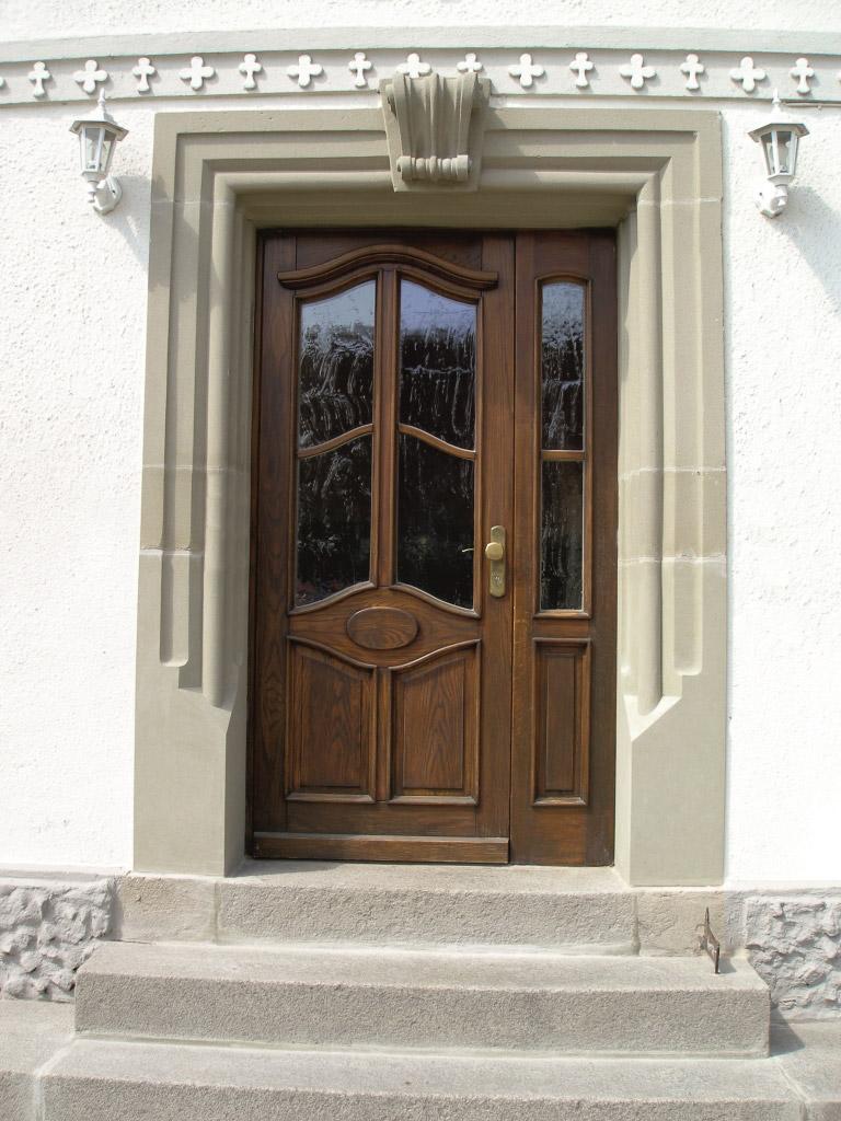 Umbau Herrieden, Umbau Bechhofen, Steinwerkstätte Gessler, Hauseingang