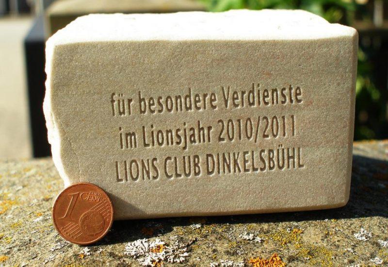 Fotogravuren Herrieden, Fotogravuren Bechhofen, Steinmetzwerkstätte Gessler, Lionsclub Stein