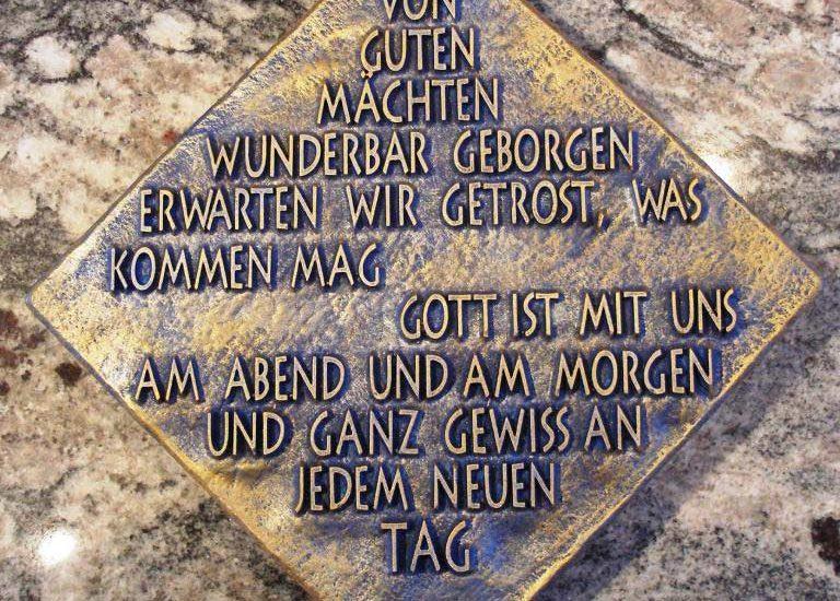 Fotogravuren Herrieden, Fotogravuren Bechhofen, Steinmetzwerkstätte Gessler, Schriftplatte